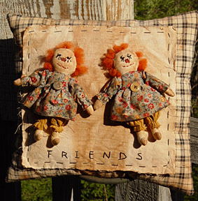 Friends Raggedy Ann Pillow