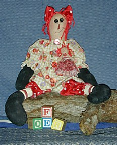 Skittle Raggedy Ann Doll